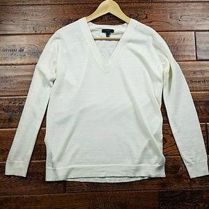 <j.crew> Merino-linen V-neck sweater